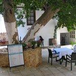 Breakfast in lovely courtyard