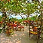 Beachside dining area