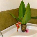 Bouquet au bord de la baignoire !