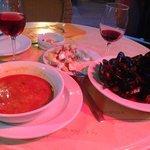 soupe de poisson moules à la tomate pdt piment