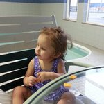 Baby Sariah having fun at the pool