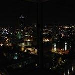 View from bar at night
