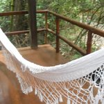 Deck con hamaca paraguaya