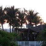 Partial view of the beach bar.