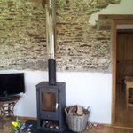 the cosy wood burner in the room