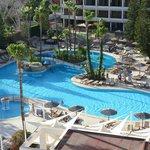 Panoramic view of main pool.