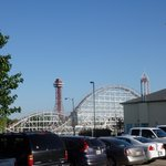 View of Six Flags from Parking lot