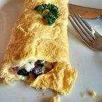 Omelete no café da manhã!