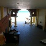 Looking through the 'breezeway' from second floor, bldg 70