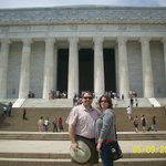 My wife & I at the Lincoln Memorial