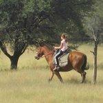 Horseriding.