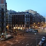 View from our room is this street going straight to Plaza Catalunya