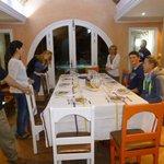 Repas avec les hôtes