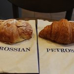 almond and classic croissant