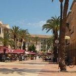 view frm El Torro tapas bar down the square