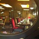 Inside Flemings bar and restaurant