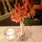 Flowers on the diner table