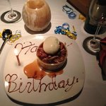 Birthday bread pudding - yummy!