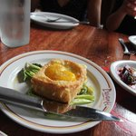 egg toast with white truffle oil