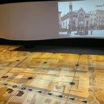 Пол-карта и видео проекция на стене