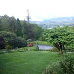 Gardens and Lake Windermere from hotel