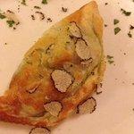 feuilleté épinard truffe blanche fait maison