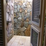 Our outdoor shower!  What a great experience.