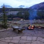 Fire ring and lake view