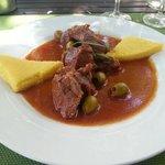 Le veau aux olives et polenta