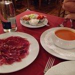 Gazpacho and jamon iberico