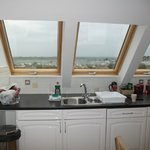 Kitchen and spectacular views out to sea