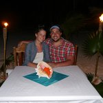 Our private honeymoon dinner on the beach - Thank you, Tranquility Bay!