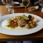 Fish main course on Sunday Lunch Menu
