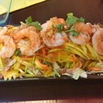 Prawn with mango and pork salad