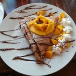 Mango and Nutella crepe, to die for.