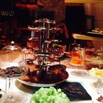 Chocolate fountain at the Rosewater