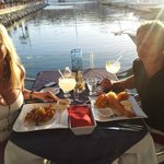 Great location to dine overlooking the Marina and the sunset