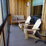 screened deck overlooking river