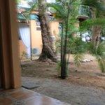 view from my door (porch) towards restaurant area