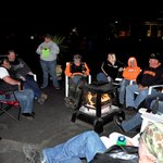 Chatting around the bonfire!!  Great times!
