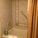 first floor bathroom with roomy shower