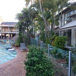 Poolside.