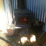 A very efficient log burner which was most welcomed!