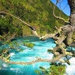 Agua de color increible