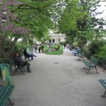 Park in the Ile de la Cite-back is Pont Neuf