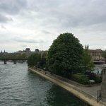 Park in the Ile de la Cite-view from Pont Neuf