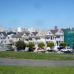 The Painted Ladies with one being redecorated