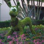 Pluto Topiary May 2014 Epcot Disney