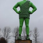 Green Giant Statue.