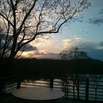 View of Lake Galena from our corner table in the Woodlands.